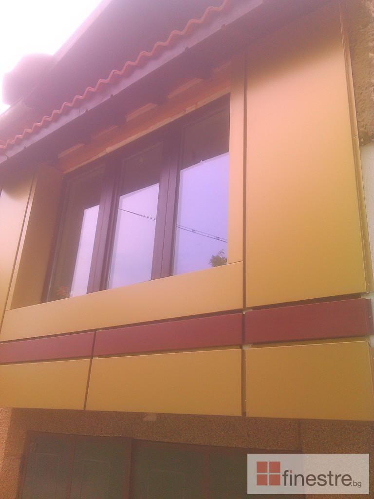 Еталбонд облицоване на тераса на къща в град Монтана 1